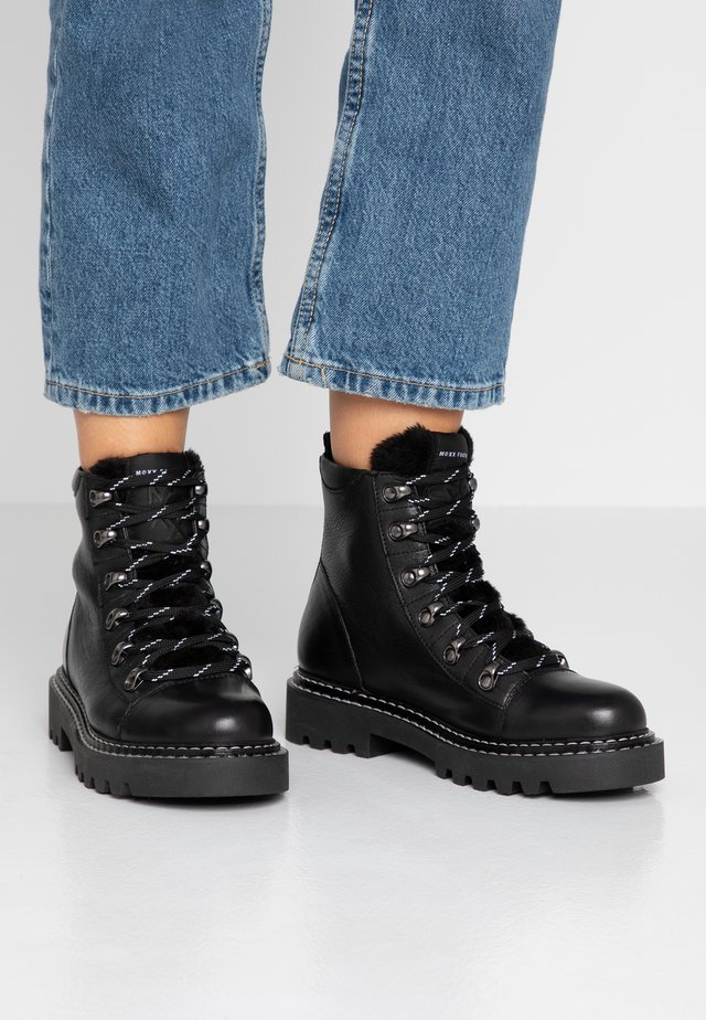 DILLY - Lace-up ankle boots - black