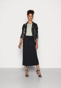 Esprit - SKIRT - Áčková sukně - black - 1