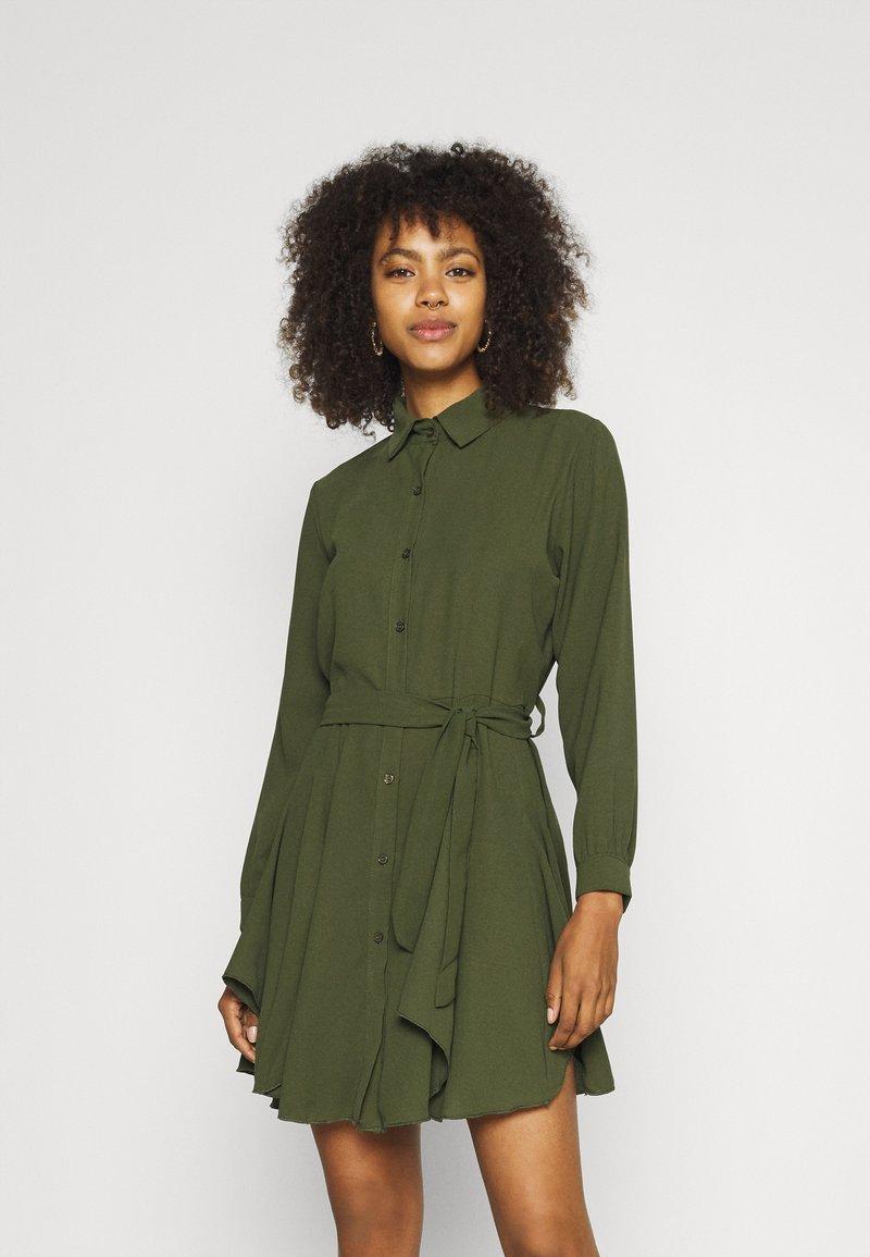 WAL G. - LAURY SHIRT DRESS - Shirt dress - khaki