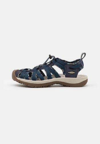 WHISPER - Walking sandals - navy/birch