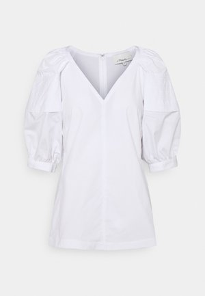 PUFF SLEEVE - Blouse - optic white