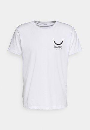 SMILE  - Print T-shirt - white
