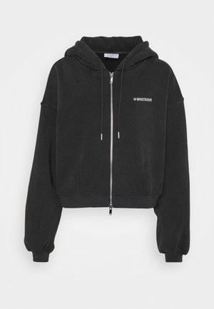 CORBY ZIP HOODIE - Sweatshirt - vintage black