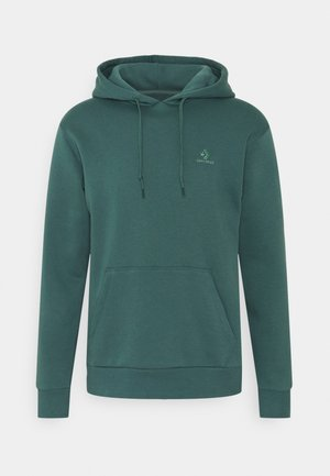 EMBROIDERED STAR HOODIE - Hoodie - forest pine