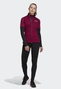 adidas Performance - AGRAVIC XC WINTER X-COUNTRY SKIING VEST - Waistcoat - burgundy - 1