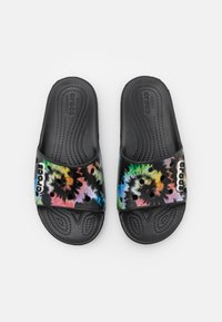 Crocs - CLASSIC TIEDYE GRPHC SLD UNISEX - Pool slides - multicolor/black - 3