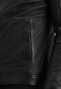 Lindbergh - Kožená bunda - black - 5