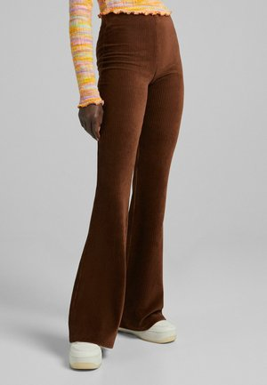 CORD - Bootcut jeans - brown