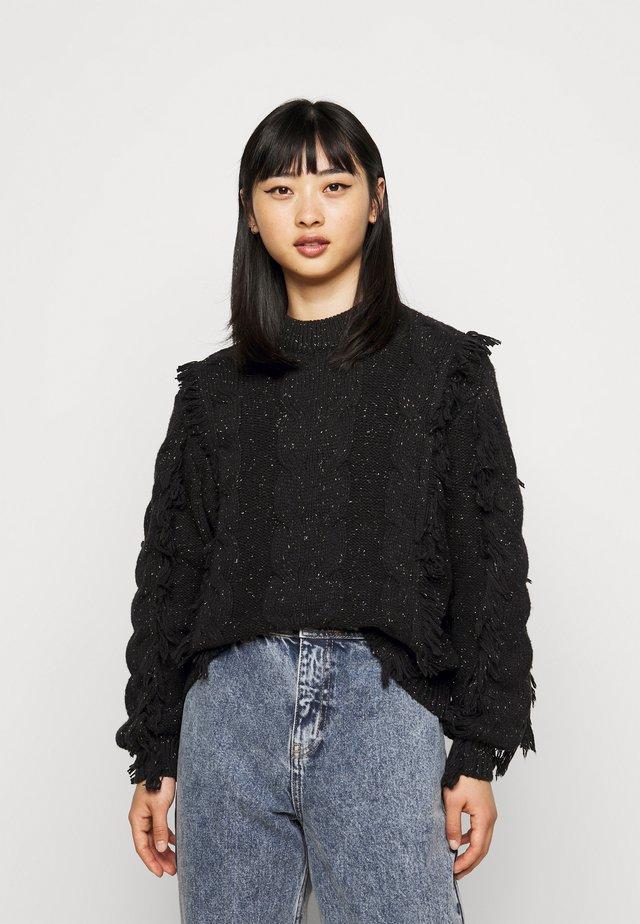 OBJDORTHA - Sweter - black
