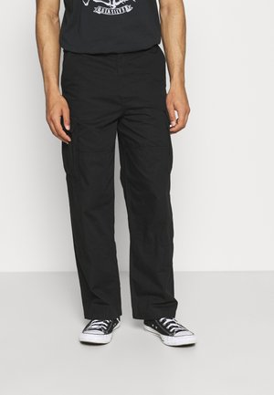 ABDI WIDE TROUSERS - Pantaloni cargo - black