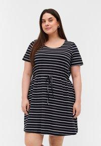 Zizzi - Tunic - black/white stripe - 0