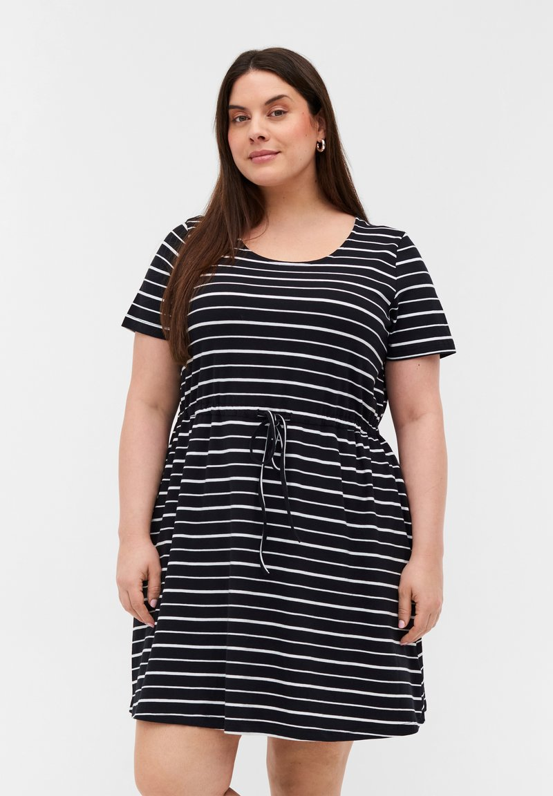 Zizzi - Tunic - black/white stripe