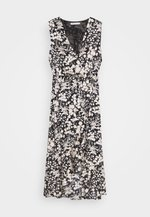 ASSIA DRESS - Occasion wear - black/cream
