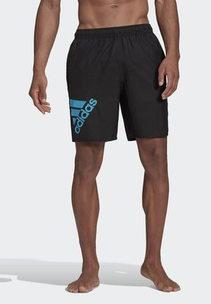 CLASSIC-LENGTH LOGO SWIM SHORTS - Swimming shorts - black