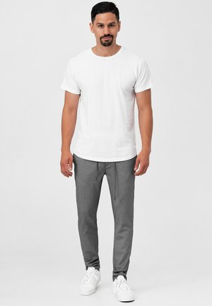 SUPER STRETCH DYER - Trousers - grey mix