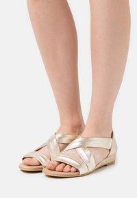 Office - HALLIE - Wedge sandals - gold - 0