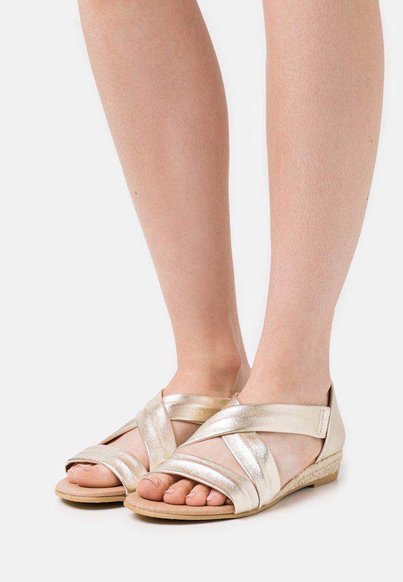 Office - HALLIE - Wedge sandals - gold