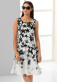 Alba Moda - Day dress - off-white grau schwarz - 5