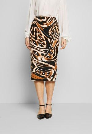 KARA - Pencil skirt - abstract wing black