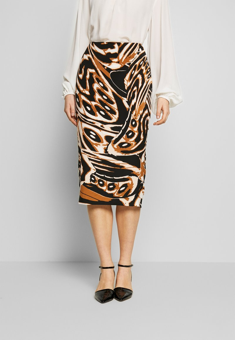 Diane von Furstenberg - KARA - Pencil skirt - abstract wing black