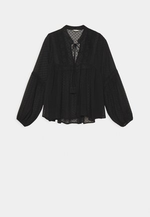 ONLELISA V NECK BLOUSE - Blouse - black