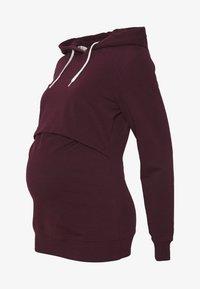 Anna Field MAMA - NURSING FUNCTION hoodie - Bluza - winetasting - 4