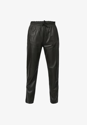 GIFT - Leather trousers - dark khaki