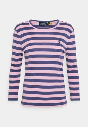 STRIPE LONG SLEEVE - Long sleeved top - hint of pink
