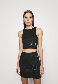 Calvin Klein Jeans - MILANO CROP TANK - Top - black - 0
