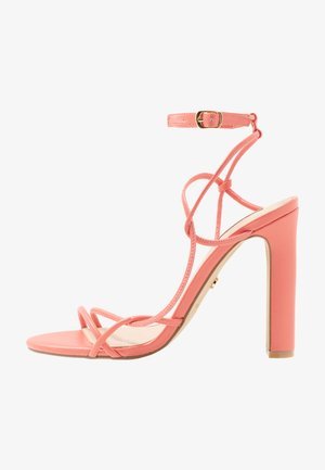HOPE - High heeled sandals - coral