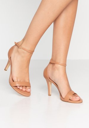 WIDE FIT MYDRO - High heeled sandals - camel