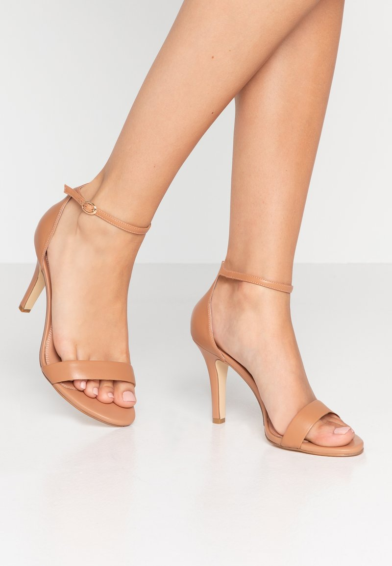 Dune London WIDE FIT - WIDE FIT MYDRO - High heeled sandals - camel