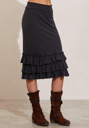 LEXIE - A-line skirt - asphalt