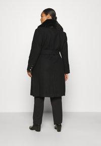 Forever New Curve - EMORY WRAP COAT - Classic coat - black - 2