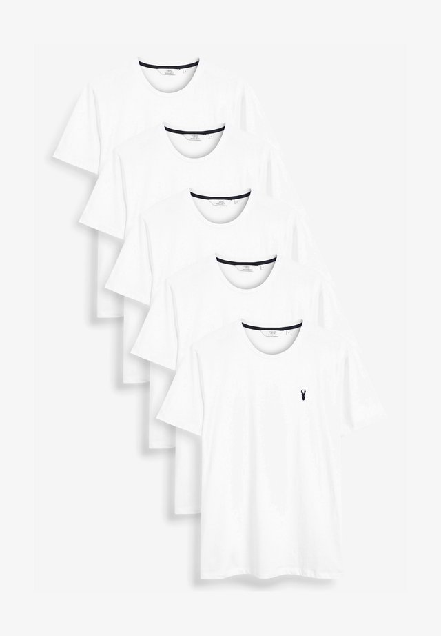 FIVE PACK - T-shirt basic - white