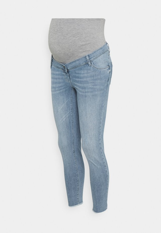 CROPPED FRAYED - Jeans Skinny Fit - light wash
