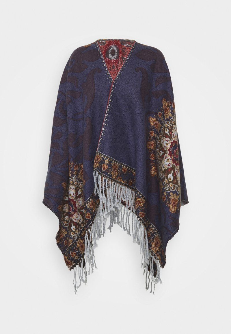 Desigual - PONCHO TAPESTRY REVERSIBLE - Cape - blue