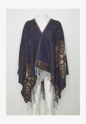 PONCHO TAPESTRY REVERSIBLE - Viitta - blue