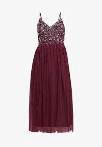 Lace & Beads - RIRI MIDI DRESS - Cocktail dress / Party dress - burgundy - 4
