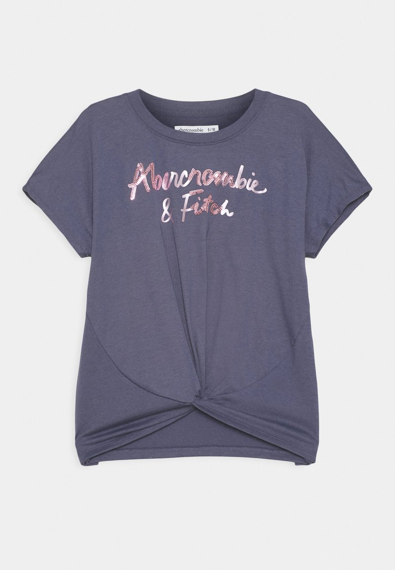 Abercrombie & Fitch - SHINE TWIST FRONT - Print T-shirt - blue