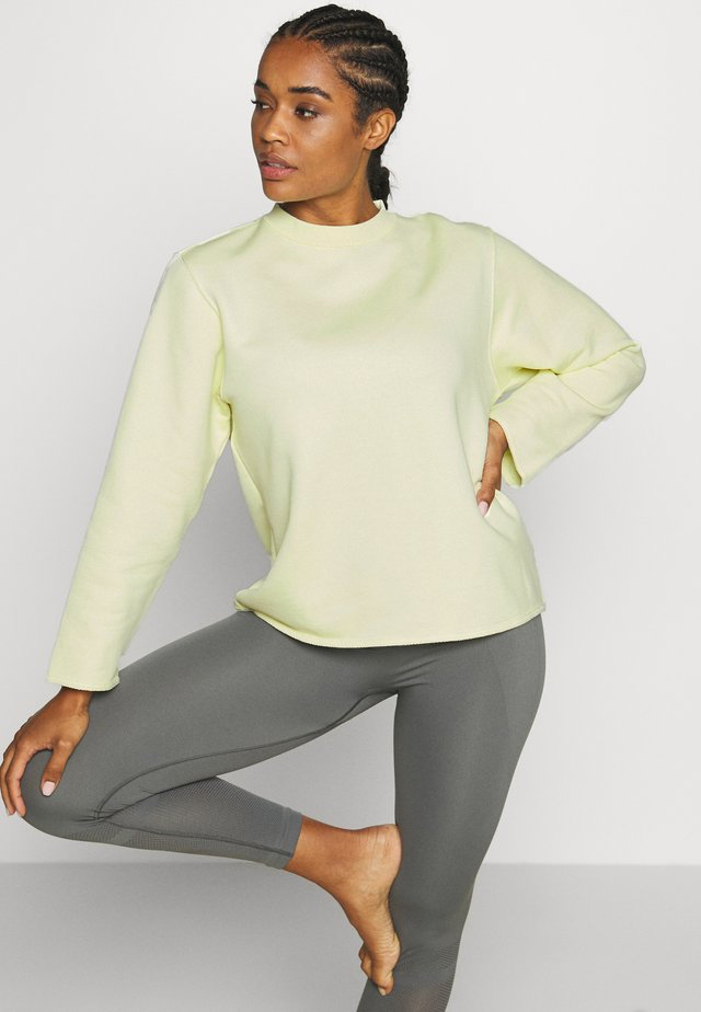 ZIP  - Sweater - acid lime