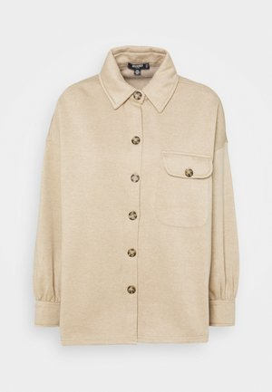 SOFT SHACKET - Button-down blouse - beige