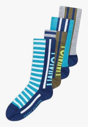 BOLD STRIPE  4 PACK - Sokker - blue