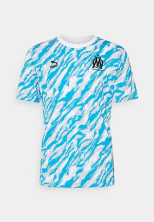 OLYMPIQUE MARSEILLE ICONIC GRAPHIC  - Klubbkläder - white/black