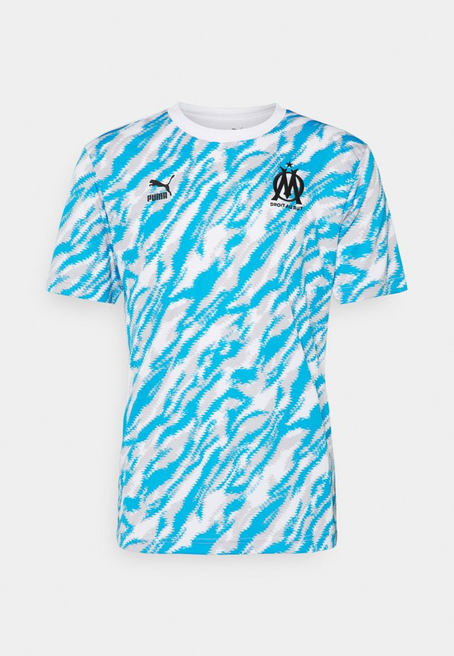 OLYMPIQUE MARSEILLE ICONIC GRAPHIC  - Article de supporter - white/black