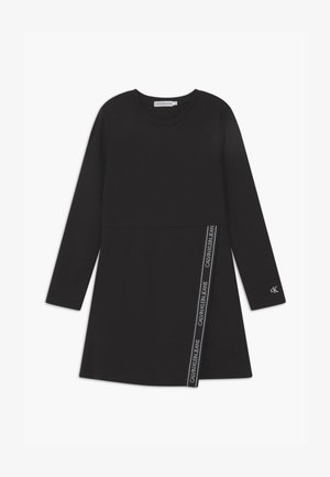 LOGO PUNTO WRAP - Jersey dress - black