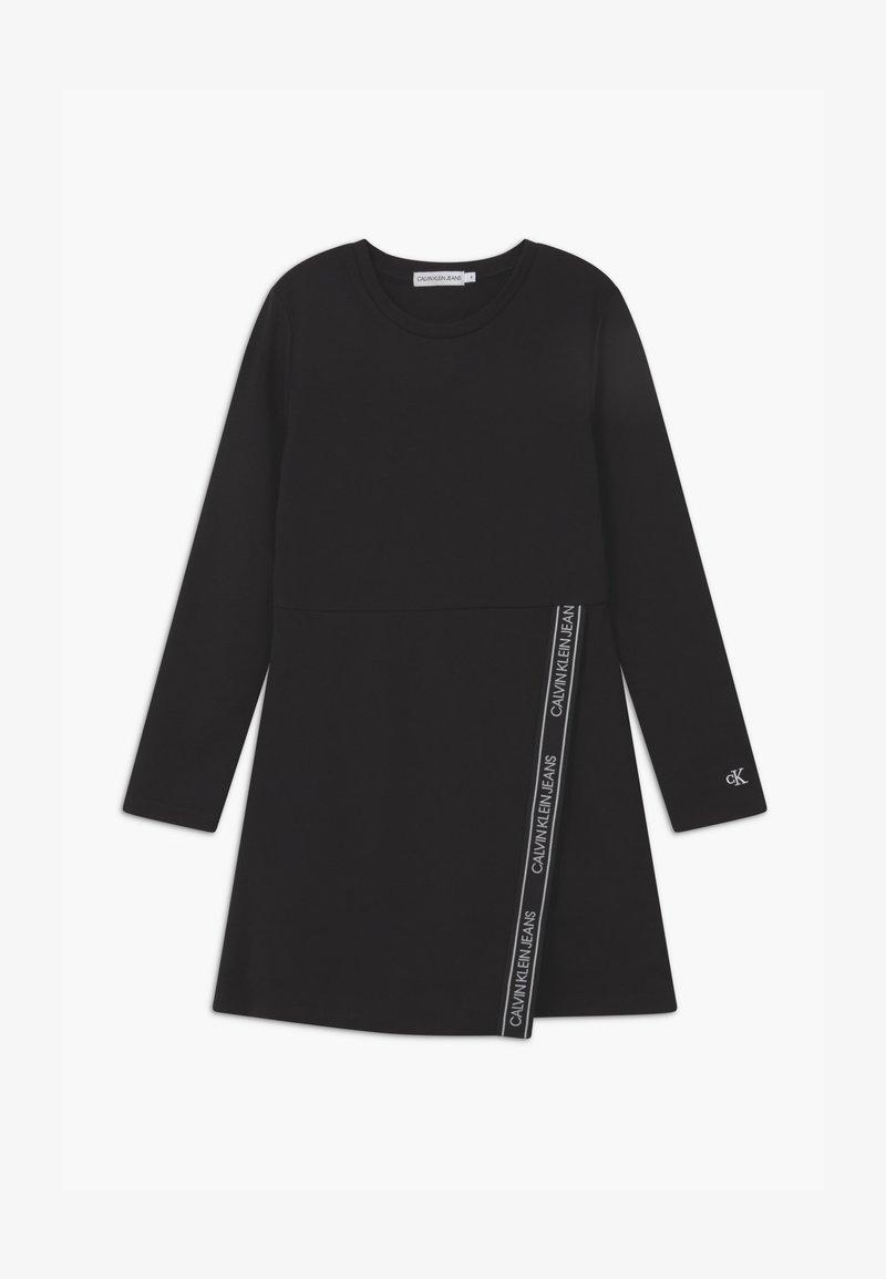 Calvin Klein Jeans - LOGO PUNTO WRAP - Jersey dress - black