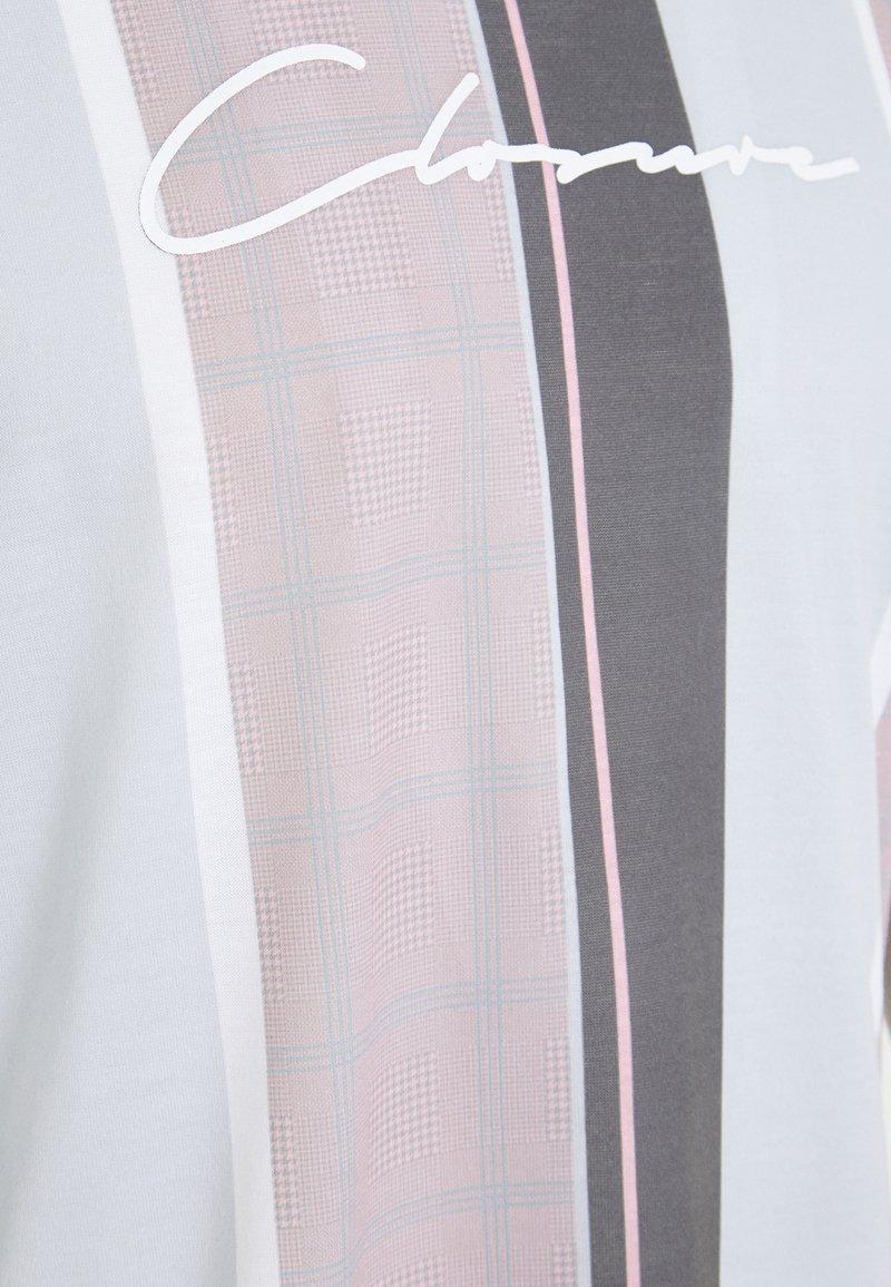 CLOSURE London TEXTURED STRIPED TEE - T-Shirt print - pink 9bQPtD