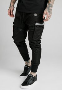 SIKSILK - COMBAT TECH PANTS - Cargo trousers - black - 0