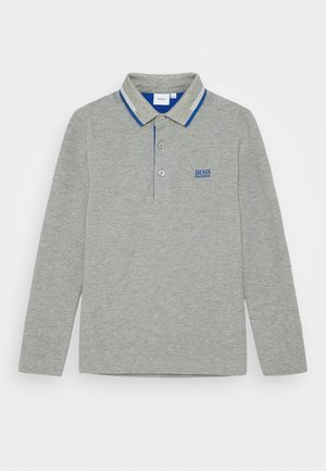 LONG SLEEVE - Polo shirt - grey marl